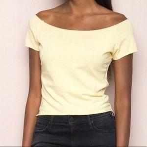 Light Yellow Brandy Melville Shirt